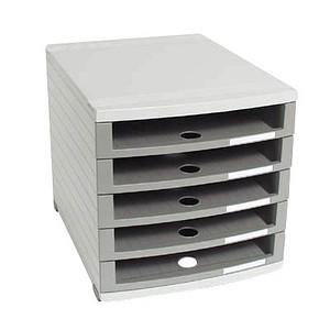 han schubladenbox contur grau mit 5 schubladen g nstig online kaufen office discount. Black Bedroom Furniture Sets. Home Design Ideas