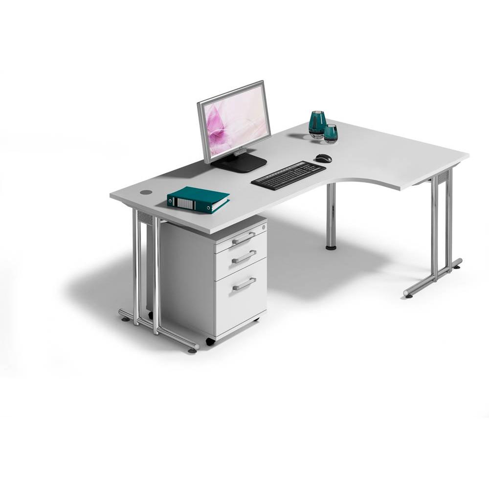 HAMMERBACHER Büromöbel-Set Pedusa grau L-Form günstig online kaufen ...