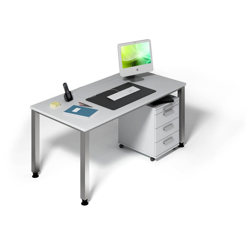HAMMERBACHER Büromöbel-Set Akandia grau rechteckig günstig online ...