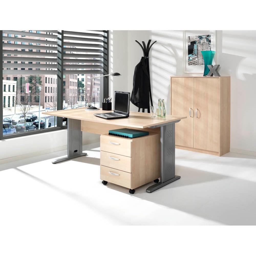 WELLEMÖBEL Büromöbel-Set Faros ahorn rechteckig günstig online ...
