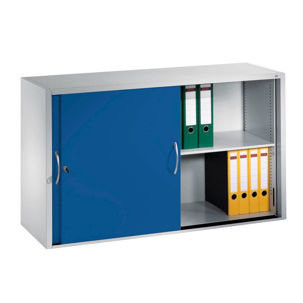 CP Schiebetürenschrank blau/grau 1 Fachboden günstig online kaufen ...