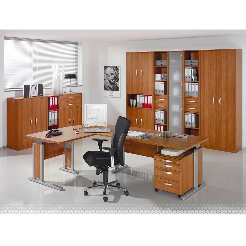WELLEMÖBEL Schreibtisch JOBEXPRESS kirschbaum L-Form günstig online ...