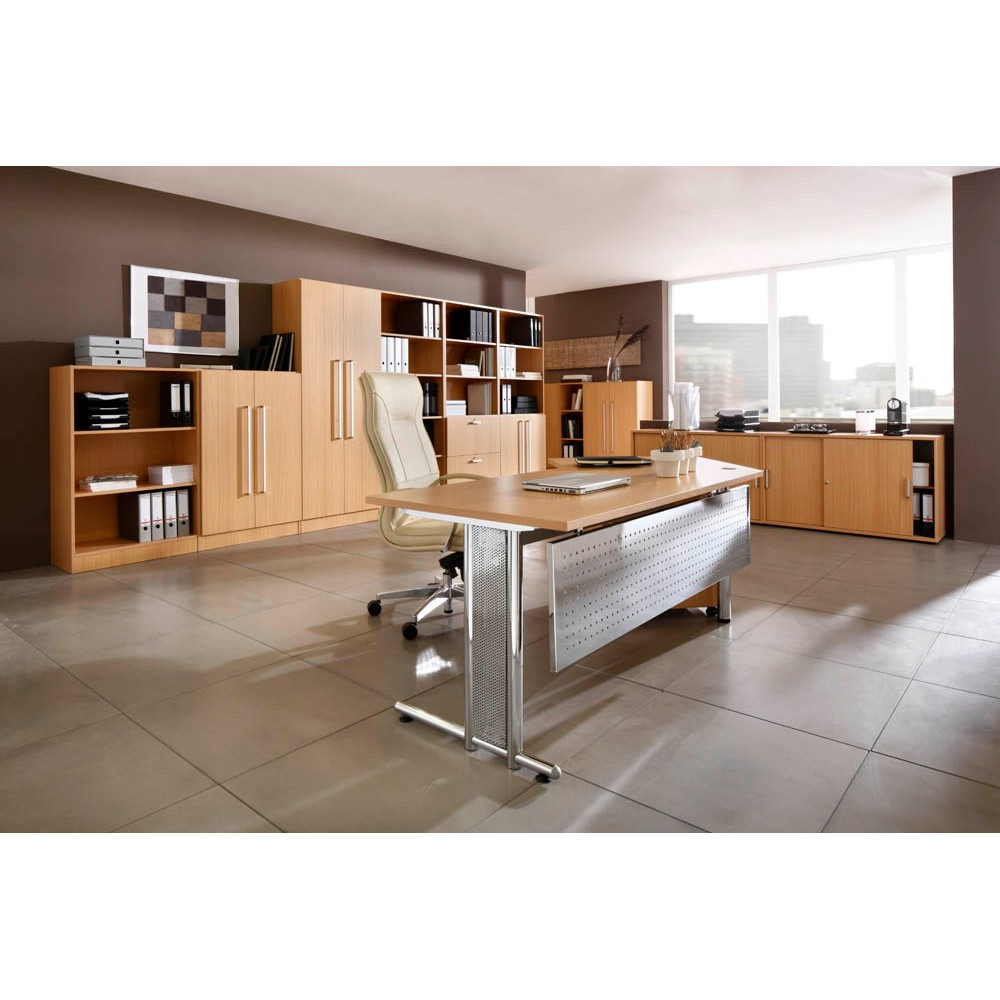 HAMMERBACHER Büromöbel-Set Pedusa buche L-Form günstig online kaufen ...