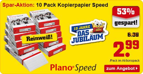 AKTION: 10x 500 Blatt Plano Kopierpapier Speed
