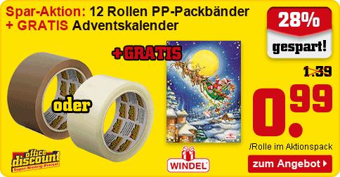 Packbänder + Windel Adventskalender